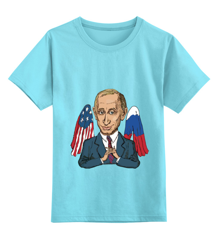 Детская футболка классическая унисекс Printio Mr president president school черная классическая
