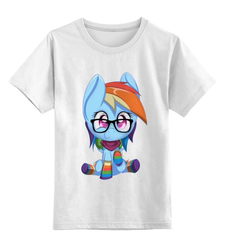 Детская футболка классическая унисекс Printio Rainbow dash цена и фото