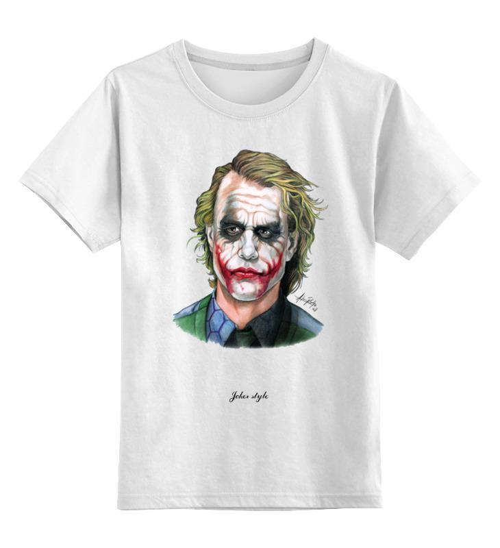 Детская футболка классическая унисекс Printio Joker style