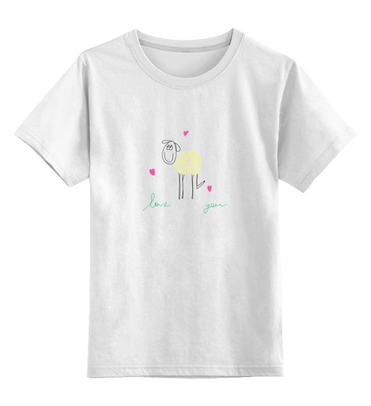 Детская футболка классическая унисекс Printio Влюбленная овечка