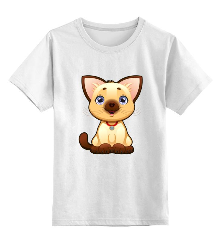 Детская футболка классическая унисекс Printio Милый котёнок цена и фото