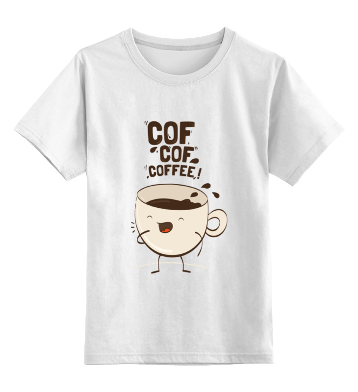 Детская футболка классическая унисекс Printio Чашка кофе цена