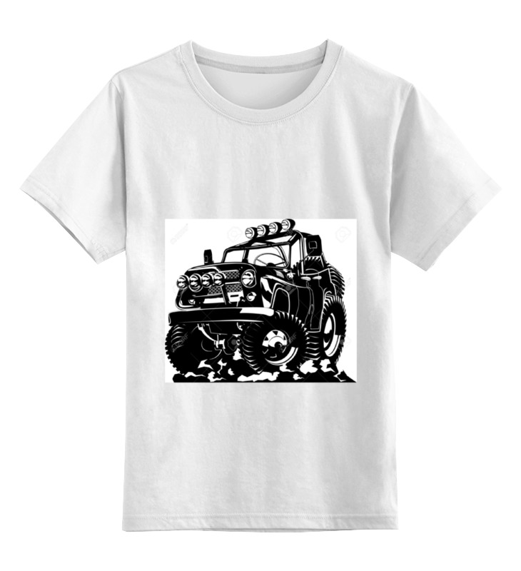 Детская футболка классическая унисекс Printio Авто уаз футболка уаз