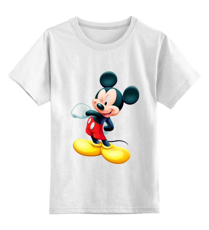 Детская футболка классическая унисекс Printio Микки маус футболка стрэйч printio микки маус мультяшный герой