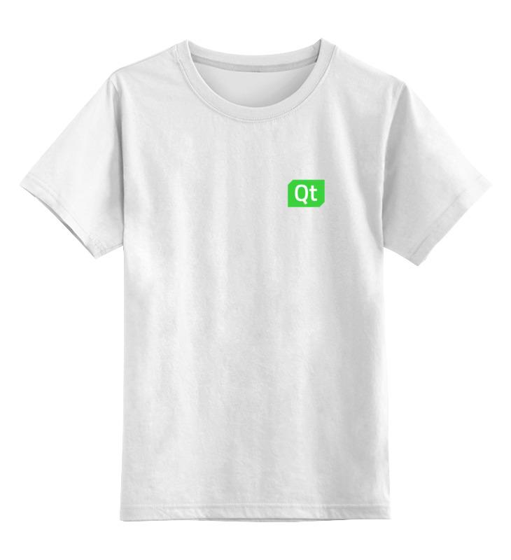 Детская футболка классическая унисекс Printio Qt team