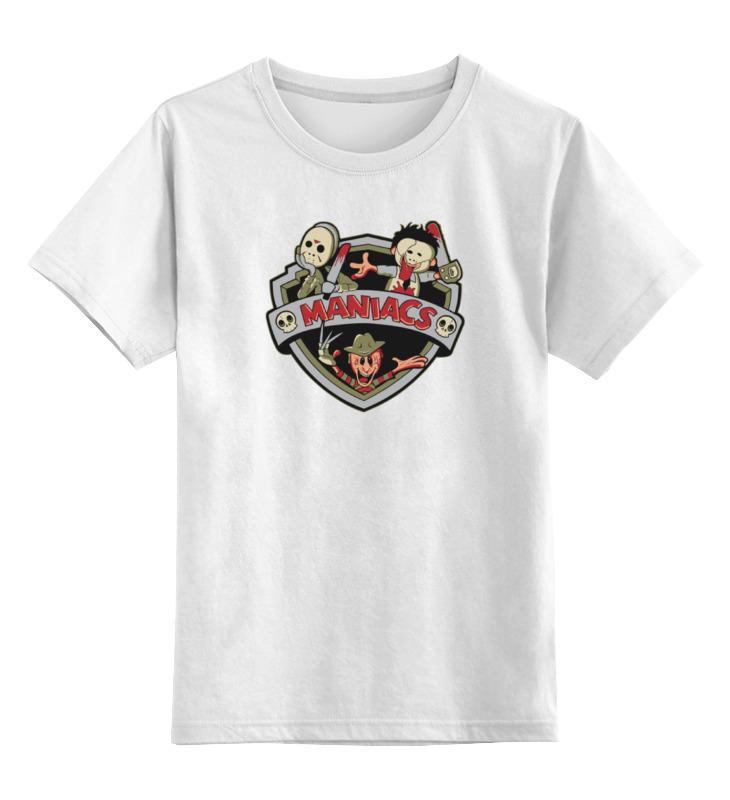 Детская футболка классическая унисекс Printio Маньяки sbart upf50 rashguard 2 bodyboard 1006