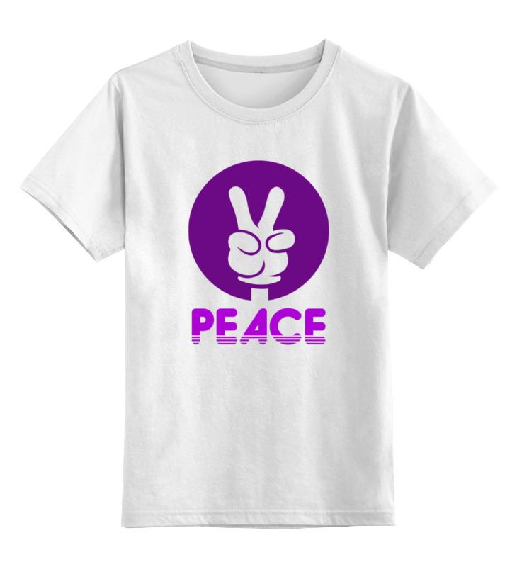 Детская футболка классическая унисекс Printio Символ мира лонгслив printio символ мира