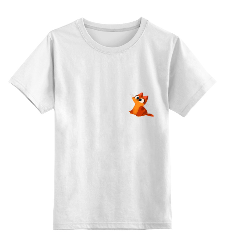 Детская футболка классическая унисекс Printio Рыжий кот детская футболка классическая унисекс printio абстрактный кот