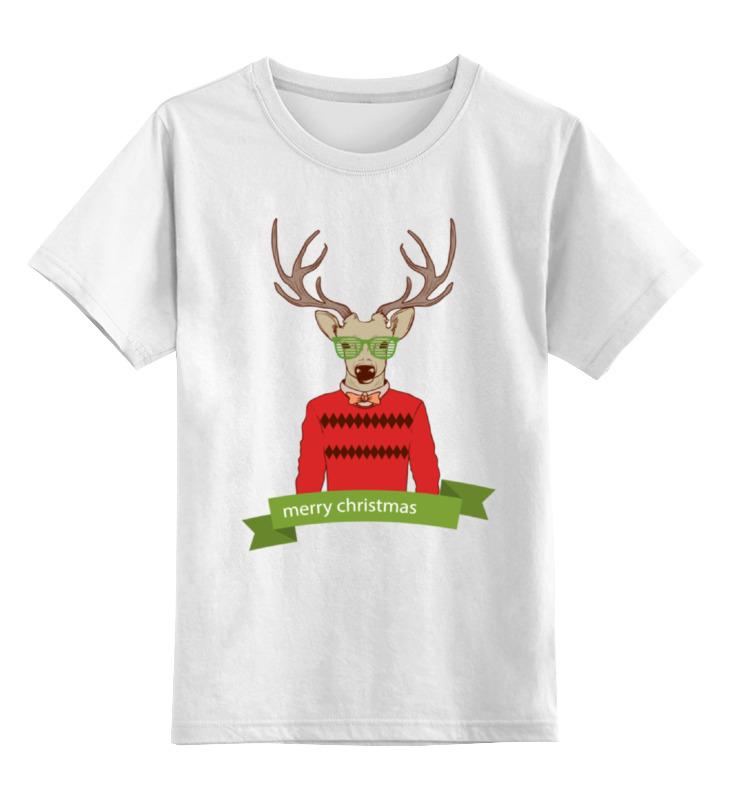 Детская футболка классическая унисекс Printio Christmas deer защитное стекло onext для apple iphone 6 plus 1 шт [40805]