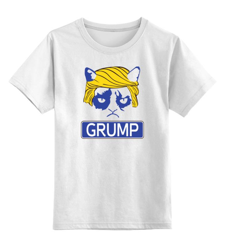Детская футболка классическая унисекс Printio Угрюмый трамп цена и фото