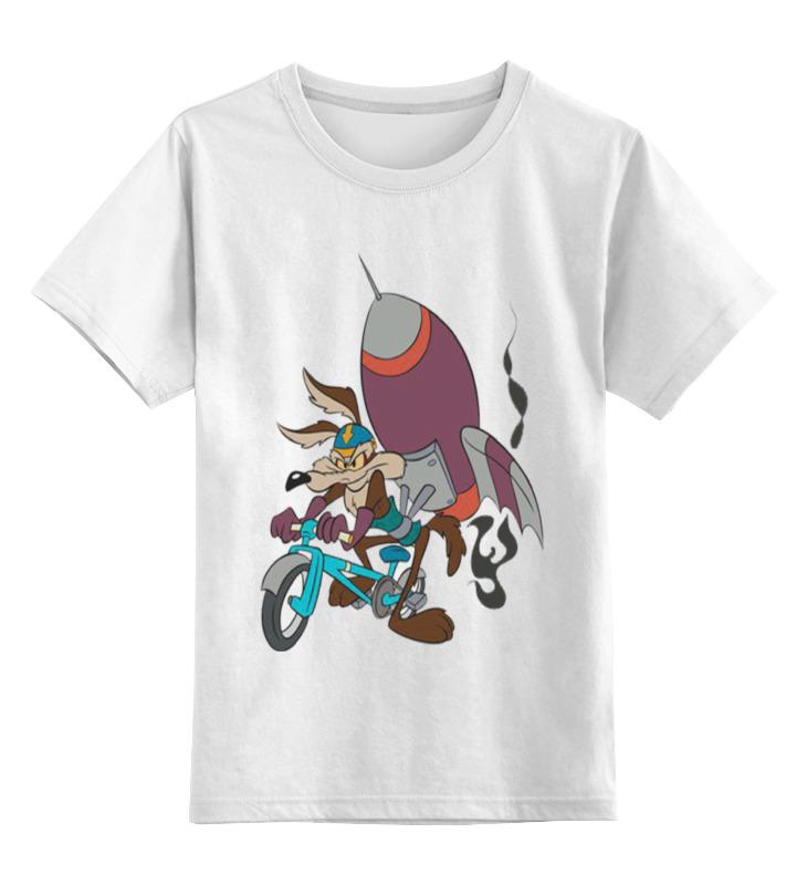 все цены на Детская футболка классическая унисекс Printio Уилл койот на велосипеде онлайн