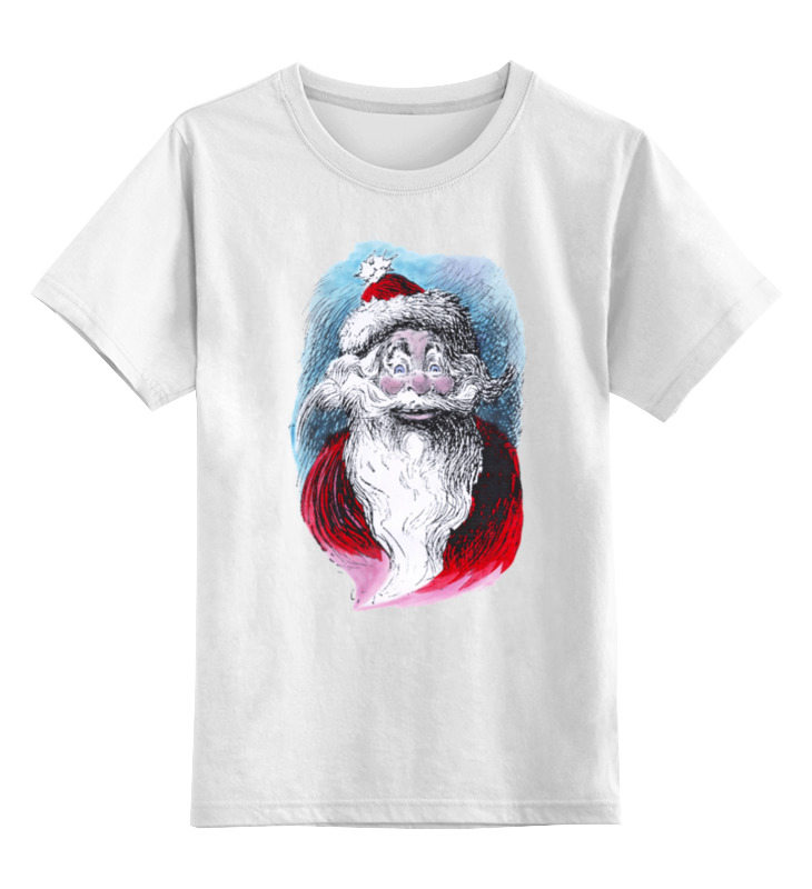 Детская футболка классическая унисекс Printio Funny santa