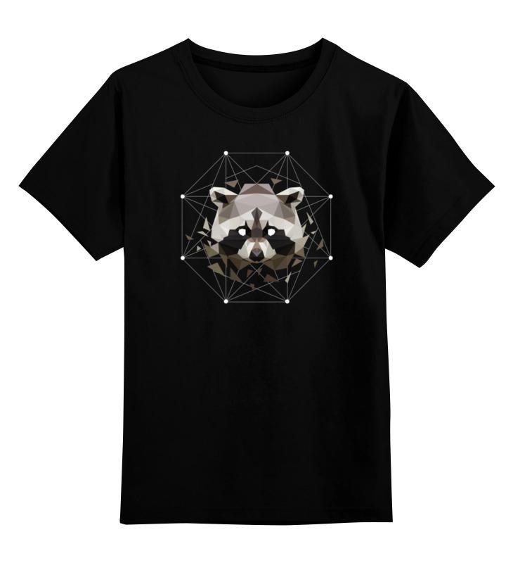 Детская футболка классическая унисекс Printio Геометрический енот детская футболка классическая унисекс printio енот sly cooper