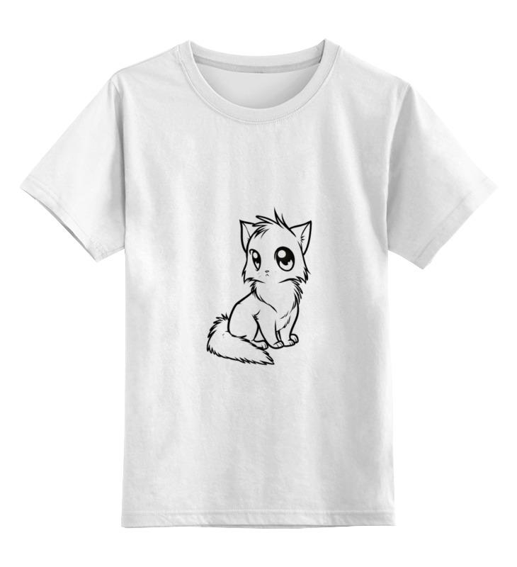 Детская футболка классическая унисекс Printio Милый кот цена и фото