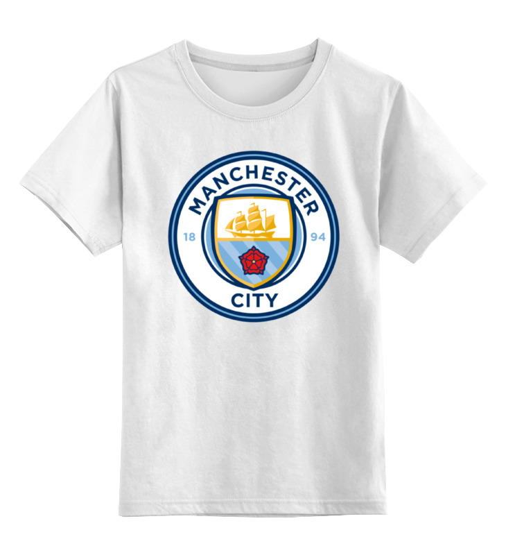 Детская футболка классическая унисекс Printio Manchester city футболка nike manchester city 898623 488