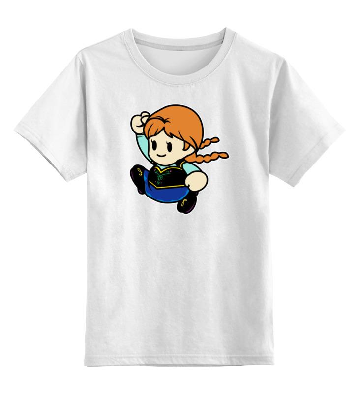 Детская футболка классическая унисекс Printio Анна (холодное сердце)