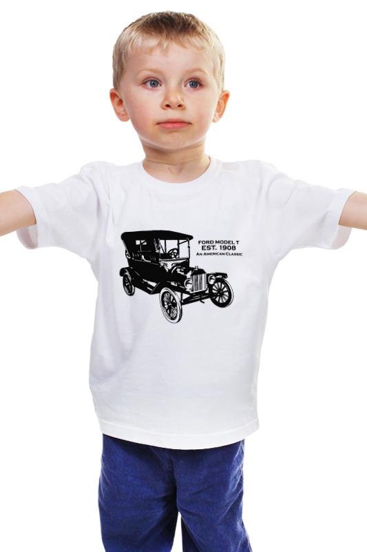 Детская футболка классическая унисекс Printio Форд модель т 1908 автомобиль б у в москве с фото пассажирский форд транзит от 14 мест