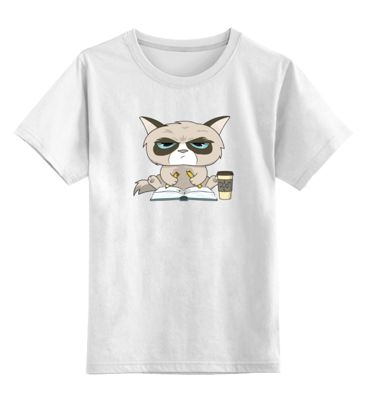Детская футболка классическая унисекс Printio Грустный кот