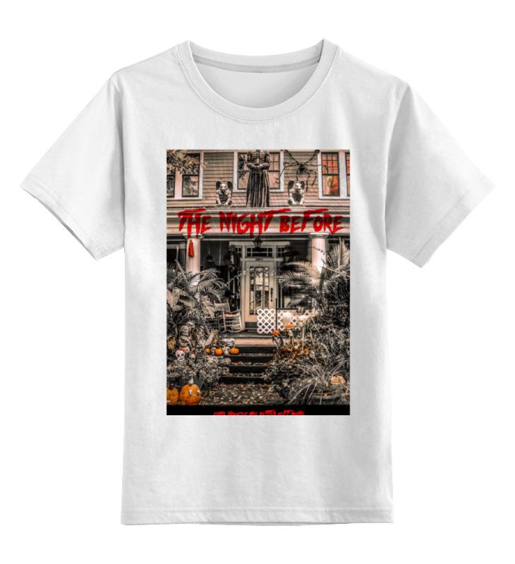 Детская футболка классическая унисекс Printio The night before gray r twas the night before christmas