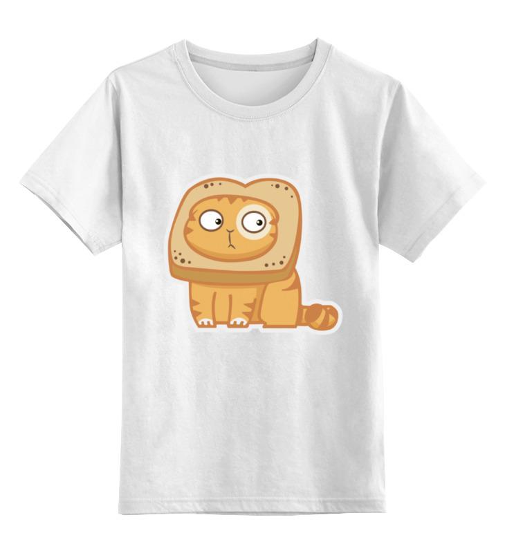 Детская футболка классическая унисекс Printio Кот персик