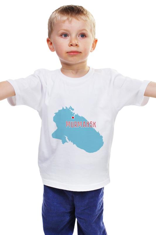 Детская футболка классическая унисекс Printio Мурманская область. мурманск мурманская рыба где в москве