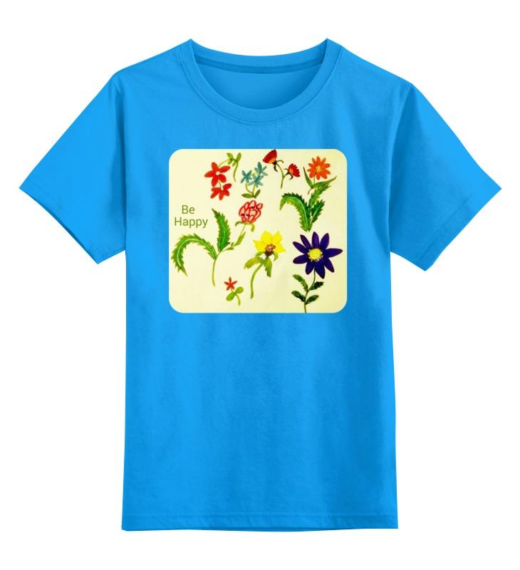 Детская футболка классическая унисекс Printio Цветы тропиков