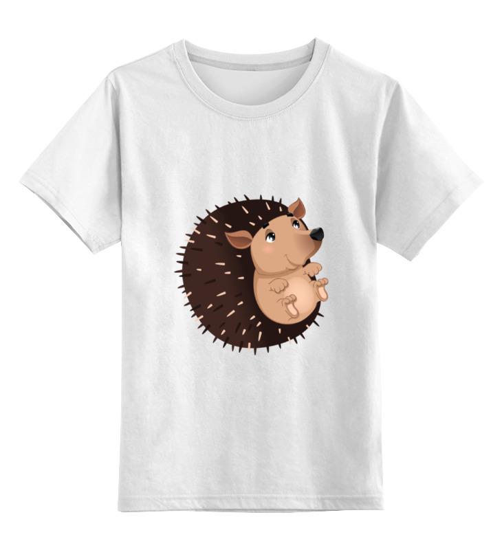 Детская футболка классическая унисекс Printio Забавный ёжик цена и фото