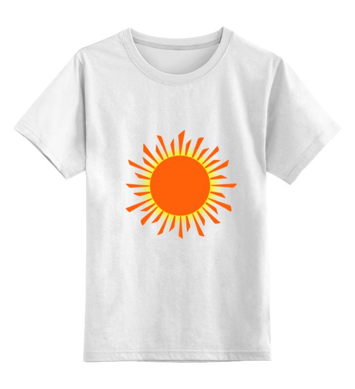 Детская футболка классическая унисекс Printio Оранжевое солнце футболка классическая printio оранжевое солнце