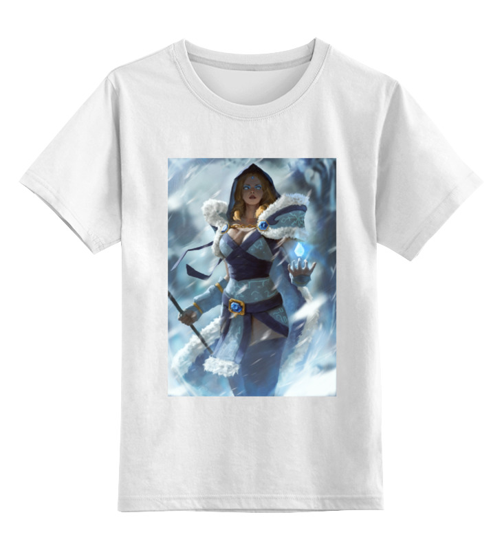 Детская футболка классическая унисекс Printio Crystal maiden цена