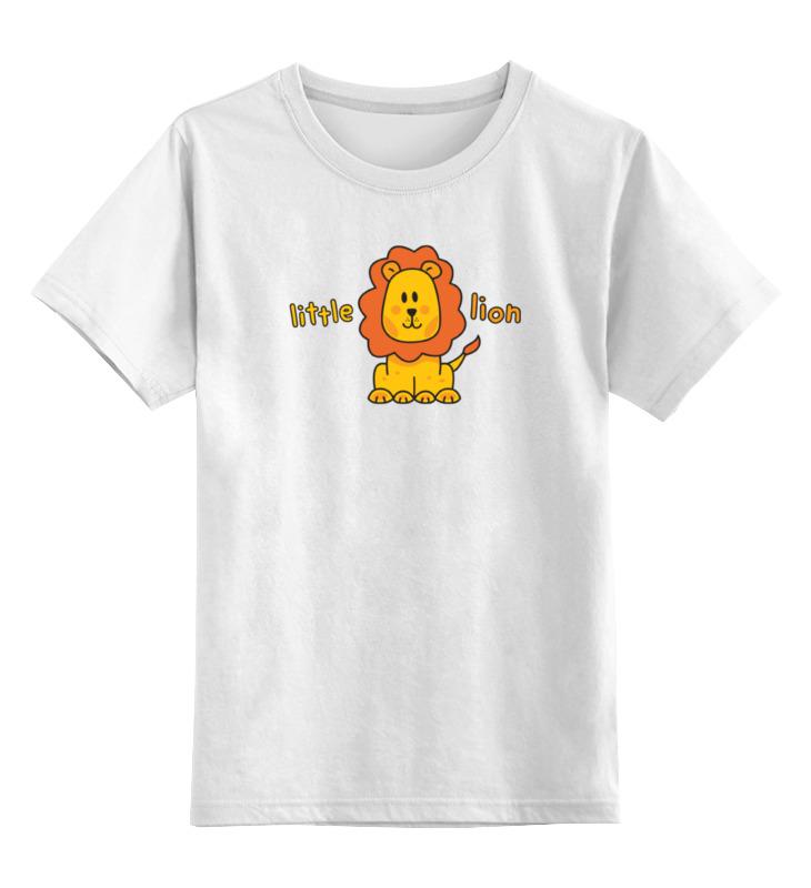 Детская футболка классическая унисекс Printio Маленький лев