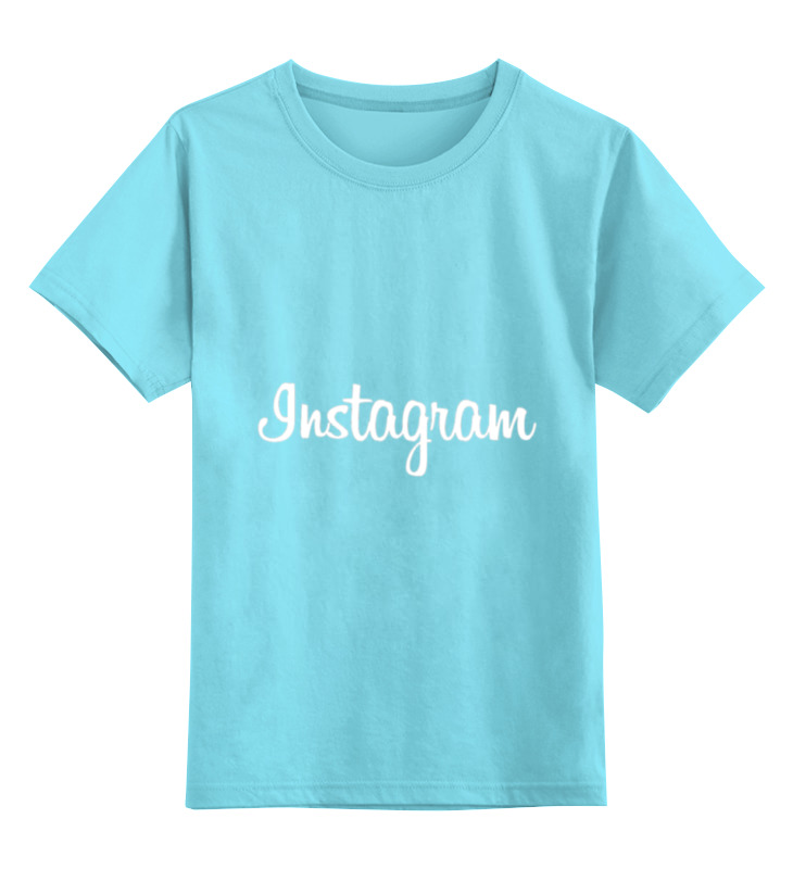 Детская футболка классическая унисекс Printio Инстаграм