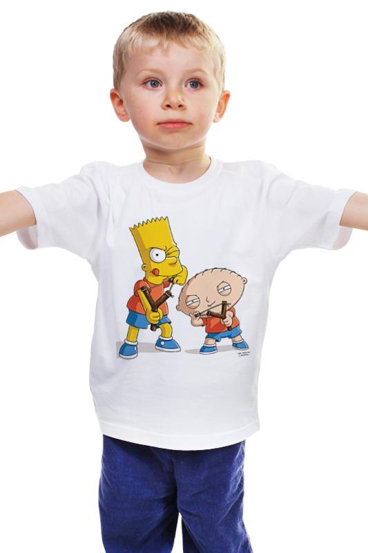 Детская футболка классическая унисекс Printio Bart stewie