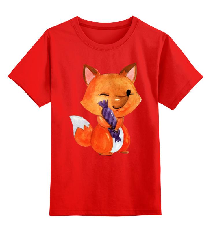 Детская футболка классическая унисекс Printio Лисичка цена