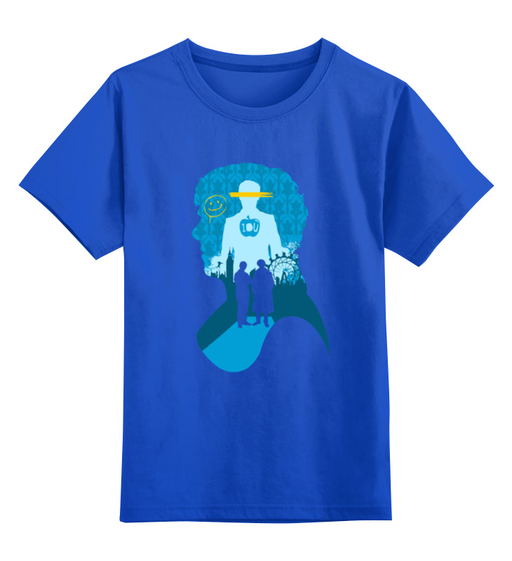 Детская футболка классическая унисекс Printio Шерлок холмс (sherlock holmes) лонгслив printio шерлок холмс sherlock holmes