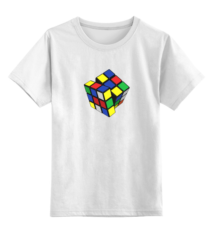 Детская футболка классическая унисекс Printio Кубик рубика rh7 1491 000cn cartridge fan for hp color laserjet 4600 4650 5550 4600dtn used printer parts
