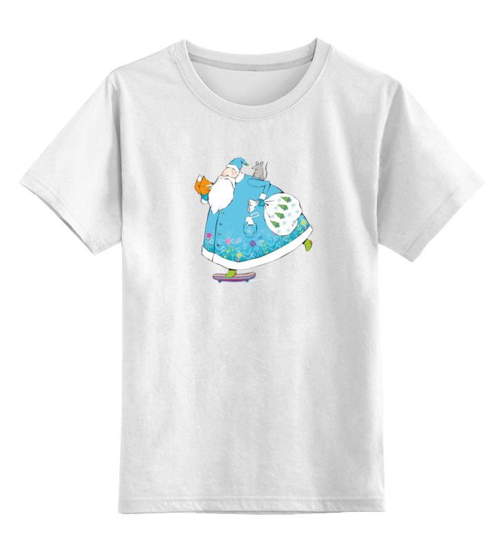Детская футболка классическая унисекс Printio Дед мороз на скейте футболка wearcraft premium printio дед мороз на скейте