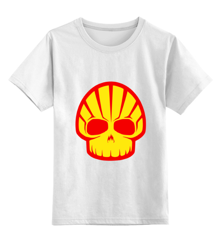 Детская футболка классическая унисекс Printio Shell skull детская футболка классическая унисекс printio skull 3