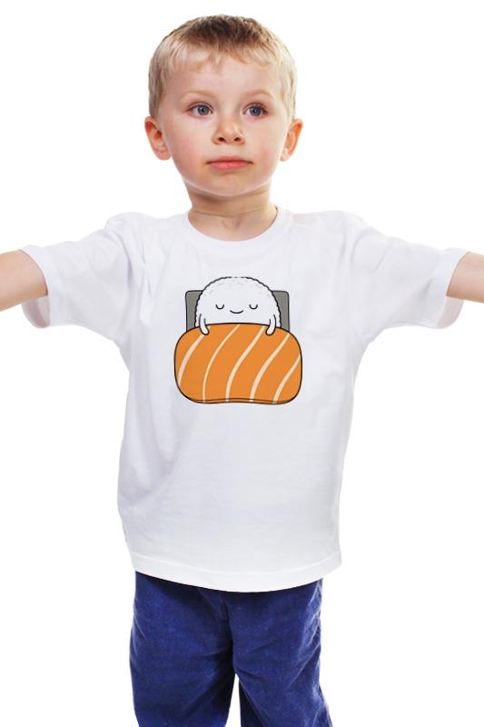 Детская футболка классическая унисекс Printio Суши и роллы