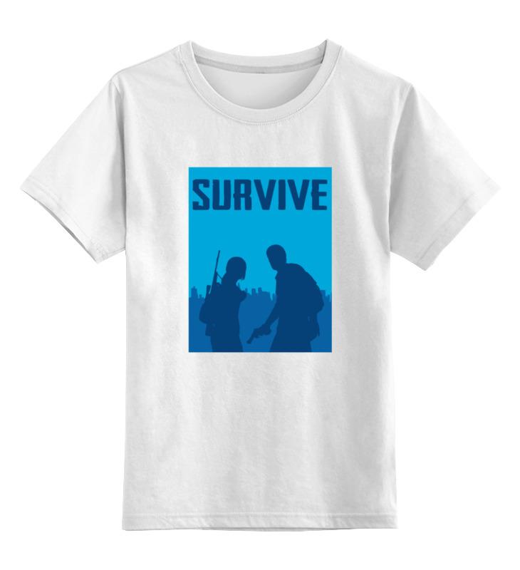 Детская футболка классическая унисекс Printio Выжить (одни из нас) футболка стрэйч printio одни из нас the last of us