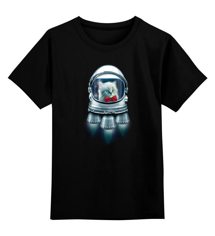 Детская футболка классическая унисекс Printio Котёнок космонавт погремушка котёнок