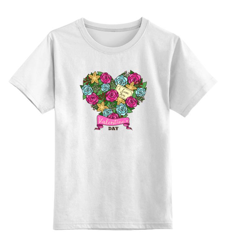 Детская футболка классическая унисекс Printio Сердечко из роз
