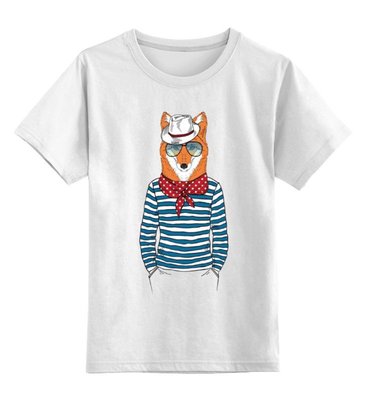 Детская футболка классическая унисекс Printio Лис пижон