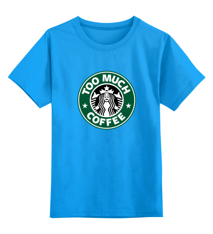 Детская футболка классическая унисекс Printio Too much coffee детская футболка классическая унисекс printio i love you beary much