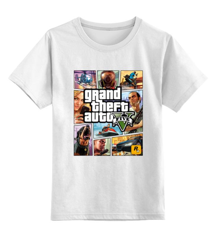 Детская футболка классическая унисекс Printio Gta 5 poster 3d poster print stand collar jacket