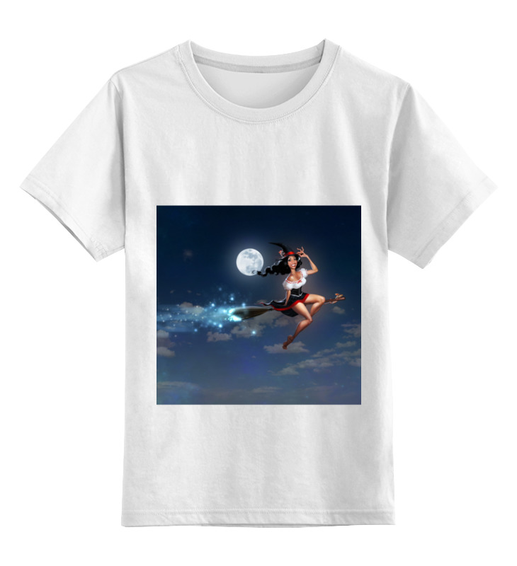 Детская футболка классическая унисекс Printio Ведьма на метле футболка классическая printio ведьма страна оз