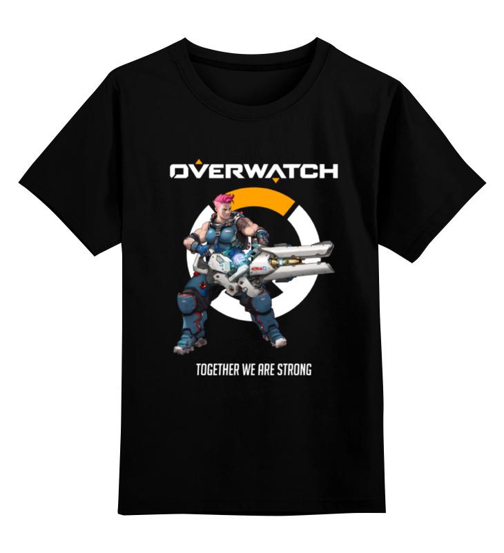 Детская футболка классическая унисекс Printio Overwatch. заря