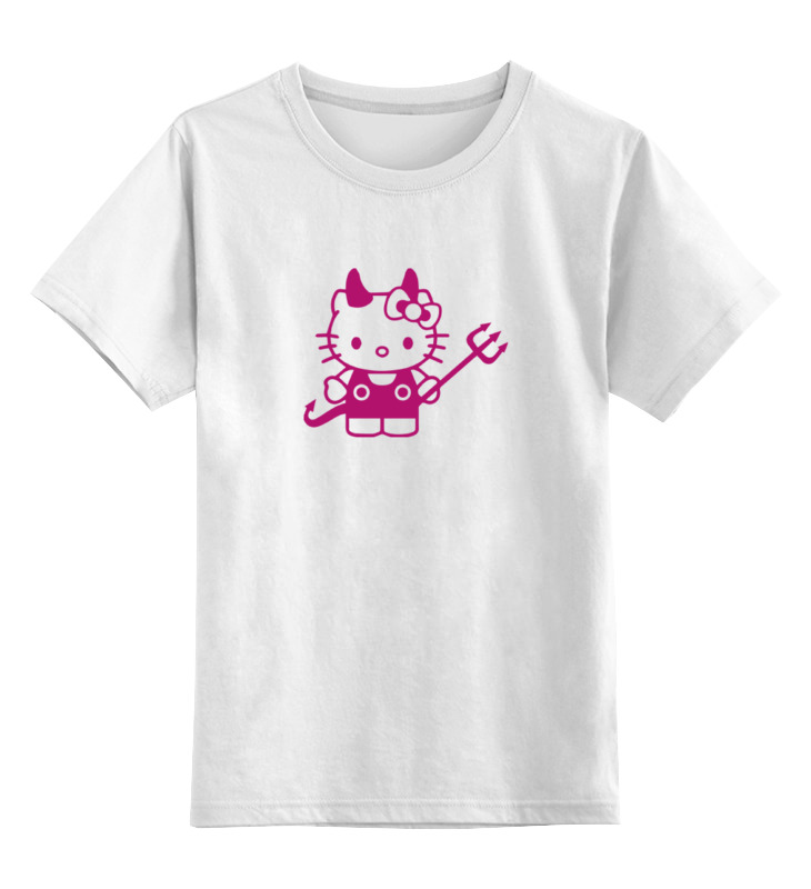 Детская футболка классическая унисекс Printio Hello kitty devil подарочный набор для новорожденных hello kitty hellokitty