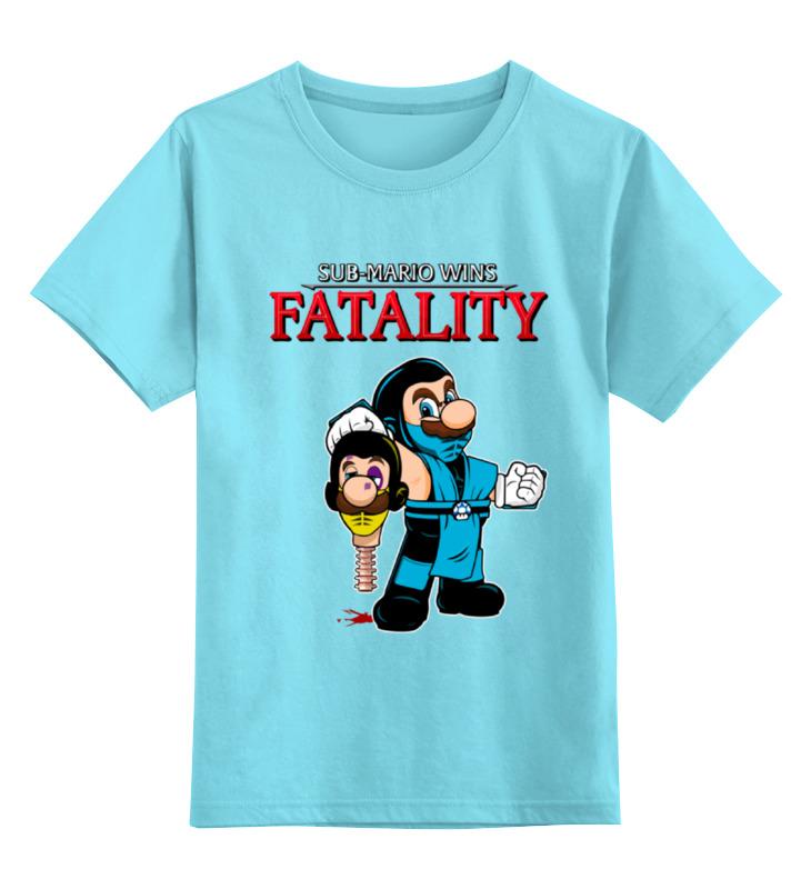 Детская футболка классическая унисекс Printio Mario x sub-zero (mortal kombat)
