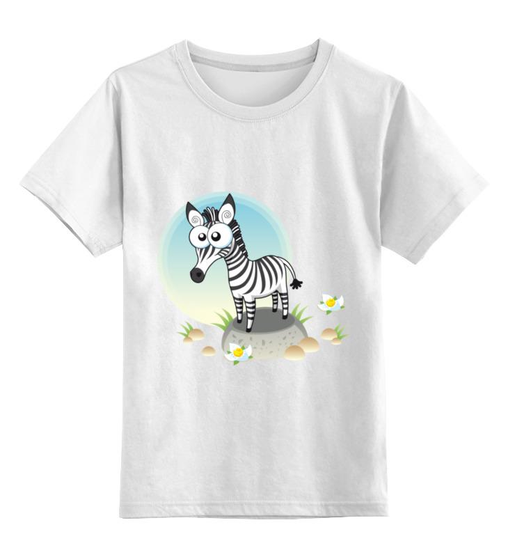 Детская футболка классическая унисекс Printio Зебра зебра зебра кроссовки синие