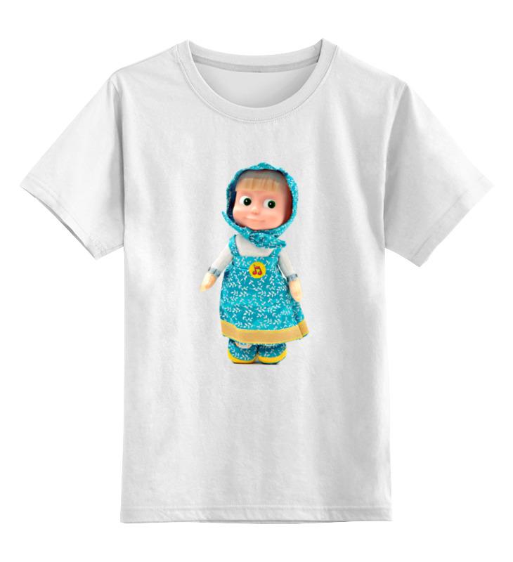 Детская футболка классическая унисекс Printio Кукла маша из мульта. смешная озорная. . цены